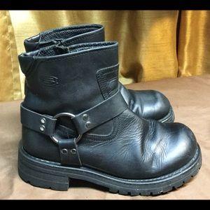 Men's Black Biker Boots